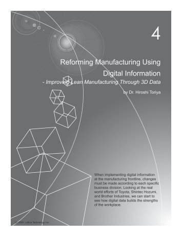 Reforming Manufacturing Using Digital Information - Lattice ...