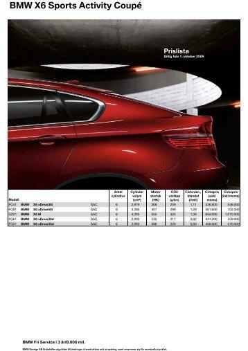 BMW X6 Sports Activity Coupé Extrautrustning
