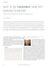 wat is de toekomst van het contactcenter? - Callcenter Makelaar