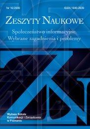 PDF7.94 MB - Wyższa Szkoła Komunikacji i Zarządzania