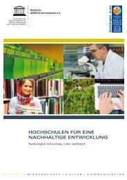 Hochschulen für eine nachhaltige Entwicklung. Nachhaltigkeit in ...