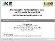Das integrative Konzept nachhaltiger Entwicklung - Mensch und ...