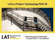 Presentatie Toelichting project tankopslag door Paul van Lieshout