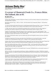 Co-owner of Shamrock Foods Co., Frances Helen McClelland, dies ...