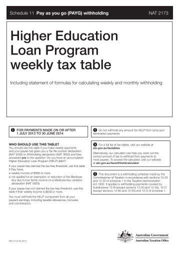 weekly tax calc