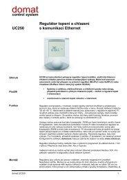 UC250 Regulátor topení a chlazení s komunikací Ethernet