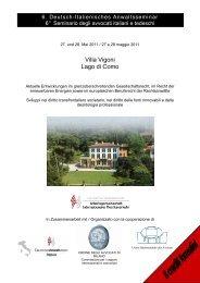 Villa Vigoni Lago di Como - Arbeitsgemeinschaft für Internationalen ...