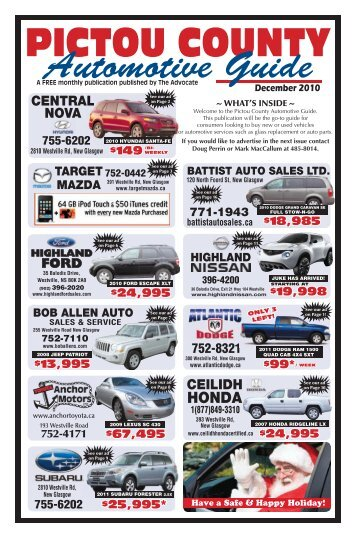PC Auto Guide - The Pictou Advocate
