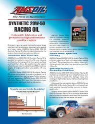 TRO - Series 2000 20W-50 Synthetic Racing Oil - Synpsg