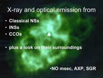 Isolated Neutron Stars in optical and X-rays