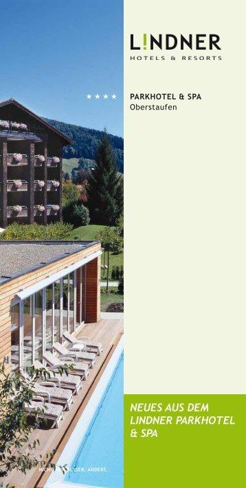 Neues aus dem Lindner Parkhotel & spa