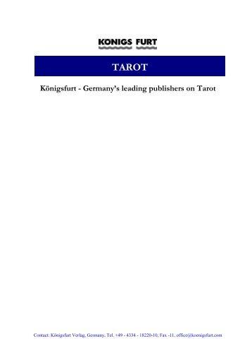 Germany's Leading Publishers On Tarot - Königsfurt-Urania Verlag