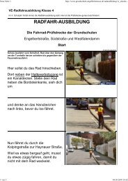 RADFAHR-AUSBILDUNG Die Fahrrad-Prüfstrecke der Grundschulen