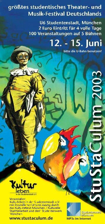 Programm StuStaCulum 2003 als PDF