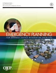 Emergency Planning for Juvenile Justice Residential Facilities