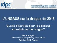 2014-10 Marie presentation at French harm reduction conference on UNGASS