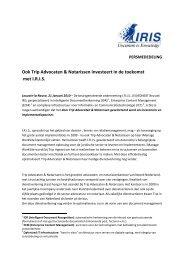 Ook Trip Advocaten & Notarissen investeert in de ... - IRIS ECM