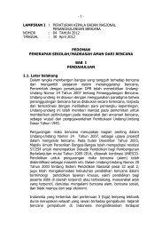 Peraturan Kepala BNPB No. 04 Tahun 2012