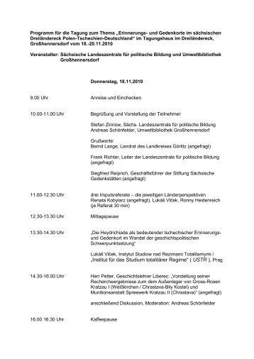 Programm 18.-20.11.2010 - Hillersche Villa