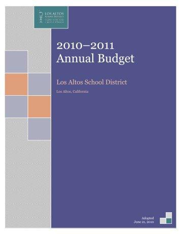 2010–2011 Annual Budget - LASD Board Matters