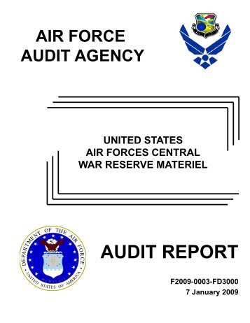 AUDIT REPORT - Air Force Freedom of Information Act