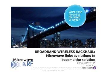 Mobile Broadband - Microwave & RF