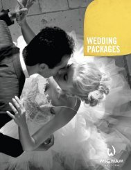 WEDDING PACKAGES - The Wigwam