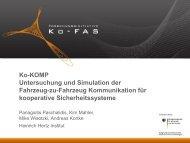 Ko-KOMP Untersuchung und Simulation der Fahrzeug-zu ... - Ko-FAS