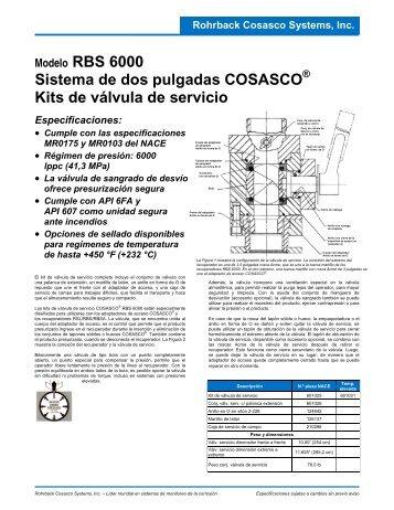 Modelo RBS 6000 Sistema de dos pulgadas COSASCO Kits de ...