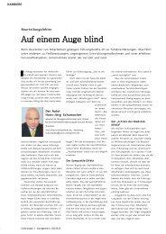 Auf einem Auge blind - Dr. Kraus & Partner