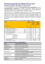 Hinweise für Bachelor EEI, Beginn im Sommer 2011 - LHFT