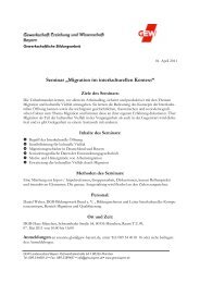 """Seminar """"Migration im interkulturellen Kontext"""""""