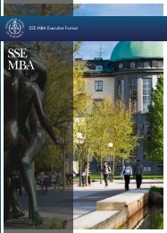 SSE MBA Executive Format