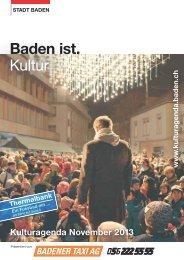 Kulturagenda November 2013 - Veranstaltungen - Stadt Baden