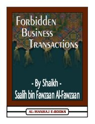 Forbidden Business Transactions - Free Download Islamic Files