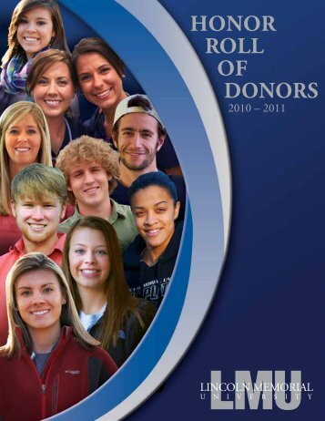HONOR ROLL OF DONORS - Lincoln Memorial University