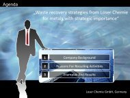 """""""Waste recovery strategies from Loser Chemie for metals with ..."""