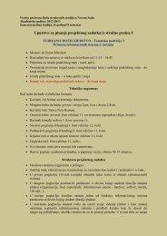 Uputstvo za izradu projektnog zadatka - Visoka poslovna Å¡kola ...