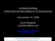 Scott Wallsten - Understanding International Broadband Comparisons