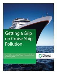 Getting a Grip on Cruise Ship Pollution - Friends of the Earth