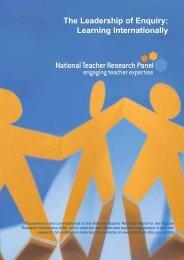 Learning Internationally - National Teacher Research Panel