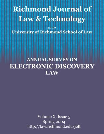 Introduction - Richmond Journal of Law & Technology - University of ...