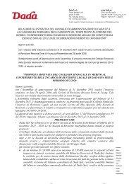 Relazione sul terzo punto all'ordine del giorno dell ... - DADA