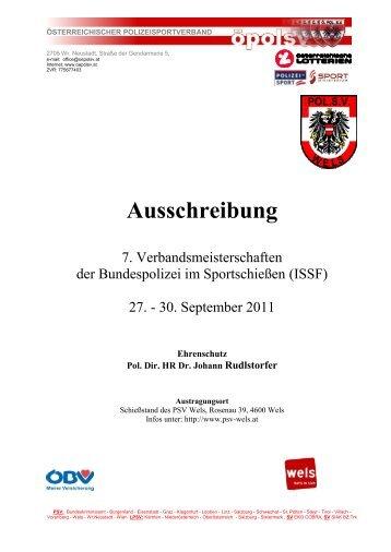 Komplette Ausschreibung - PSV Vorarlberg