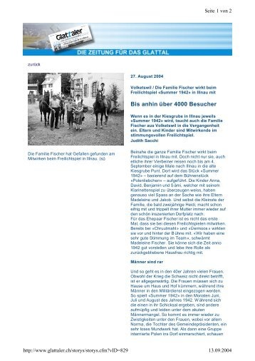 Artikel downloaden - Verein Freilichtspiele Illnau