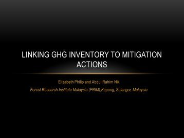 Linking GHG Inventory to Mitigation Actions