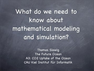 What do we need to know about mathematical ... - Institut für Informatik