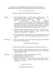surat keputusan pemberian hak pakai atas tanah negara - Pemda DI ...