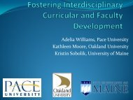Fostering Interdisciplinary Curricular and Faculty Development
