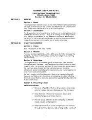 charter and bylaws - Intel Retiree Organization